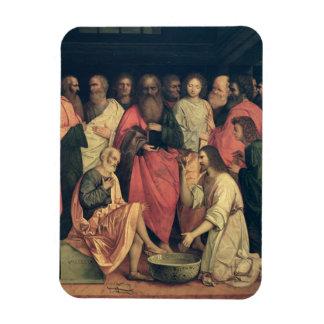 Christ Washing the Disciples' Feet Rectangular Magnets