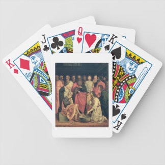 Christ Washing the Disciples' Feet Poker Deck