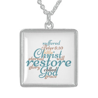 Christ Will Restore Sterling Silver Necklace