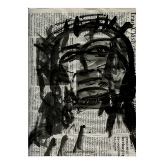 Christ with Crown of Thorns Poster
