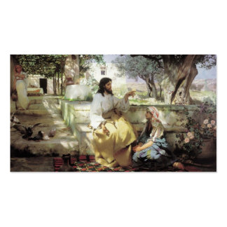 Christ with Martha and Maria circa 1886 Business Card Templates