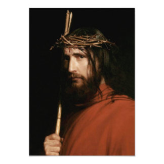 Christ with Thorns. Fine Art Customizable Cards 13 Cm X 18 Cm Invitation Card