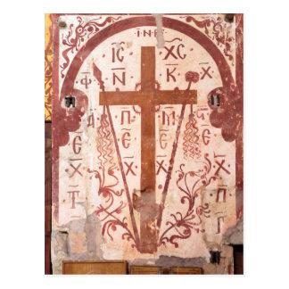 Christain Cross Artwork Postcard