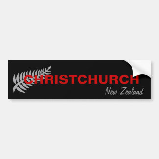 CHRISTCHURCH, NEW ZEALAND BUMPER STICKER