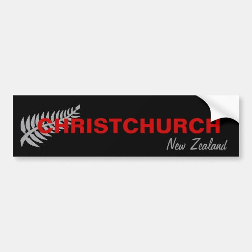 CHRISTCHURCH, NEW ZEALAND BUMPER STICKERS