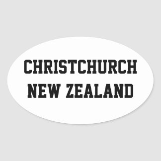 Christchurch New Zealand oval stickers