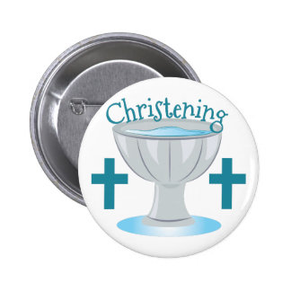 Christening 6 Cm Round Badge