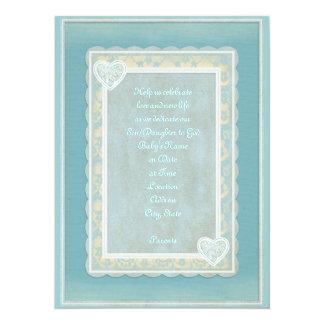 "Christening/Baptism Invitation 5.5"" X 7.5"" Invitation Card"