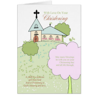 Christening greeting cards from Zazzle