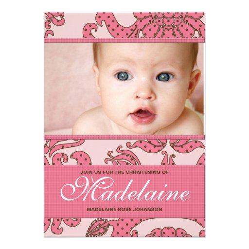 Christening Invitation for Baby Girl
