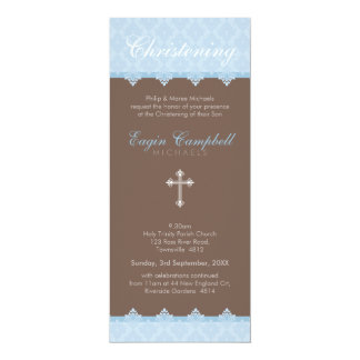 "CHRISTENING INVITES :: oh so beautiful 2P 4"" X 9.25"" Invitation Card"