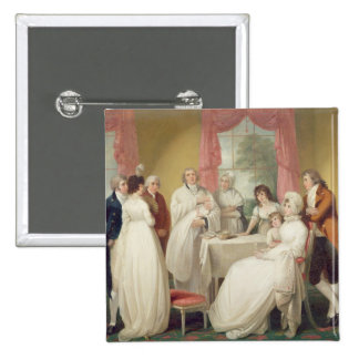 Christening of the Heir, c.1799 (oil on canvas) se 15 Cm Square Badge