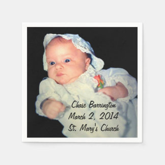 Christening the Baby Special Photo Disposable Serviette