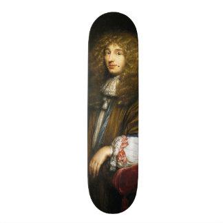 Christiaan Huygens Portrait by Bernard Vaillant 19.7 Cm Skateboard Deck