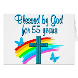 CHRISTIAN 55TH BIRTHDAY CARD
