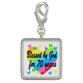 CHRISTIAN 70TH BIRTHDAY HEART DESIGN