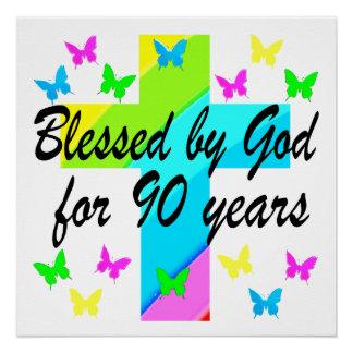 CHRISTIAN 90TH BIRTHDAY PRAYER DESIGN