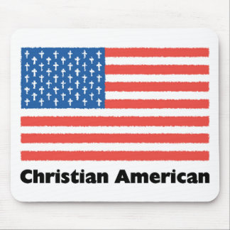Christian American Flag Mousepads