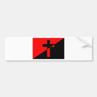 Christian Anarchist Anarchy Christianity Flag Bumper Sticker