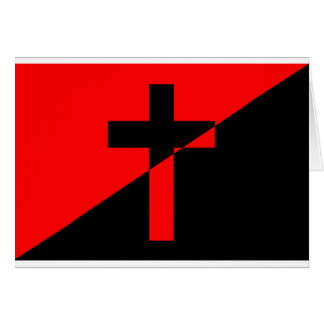 Christian Anarchist Anarchy Christianity Flag Card