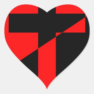Christian Anarchist Anarchy Christianity Flag Heart Sticker