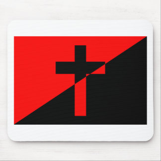 Christian Anarchist Anarchy Christianity Flag Mouse Pad