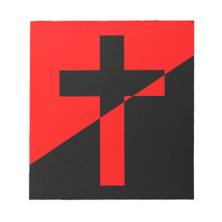 Christian Anarchist Anarchy Christianity Flag Notepads