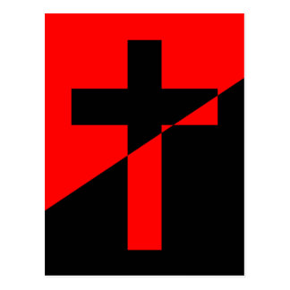 Christian Anarchist Anarchy Christianity Flag Postcard