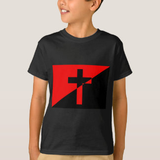 Christian Anarchist Anarchy Christianity Flag T-Shirt