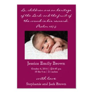 Christian Baby Girl Birth Announcement