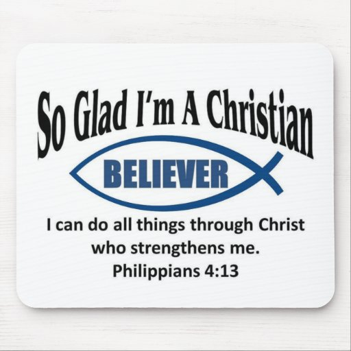 Christian believer mouse pads