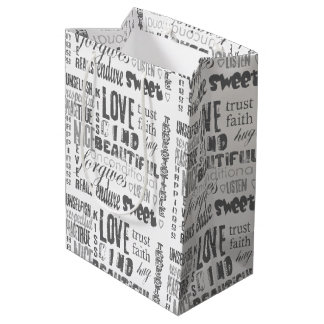 Christian Bible  Corinthians Faith Hope Love Medium Gift Bag