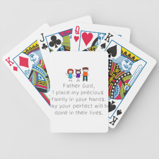 Christian,Bible Quote,Place my Family in God's han Bicycle Playing Cards