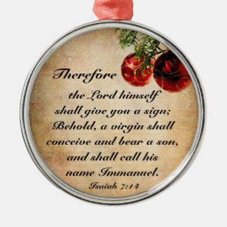 Christian Bible Verse Isaiah 7:14 Ornament