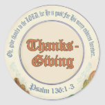 Christian Bible Verse Thanksgiving Stickers
