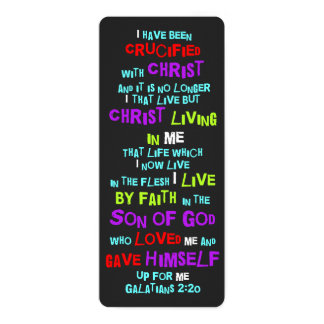 Christian Bookmark Cross Crucified With Christ Card