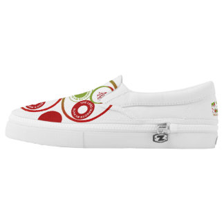 Christian Branded Zips Slip On Shoes Printed Shoes