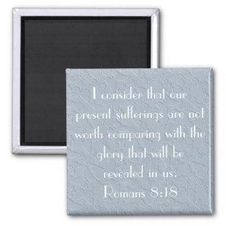 christian butterflies bible verse Romans 8:18 Magnet