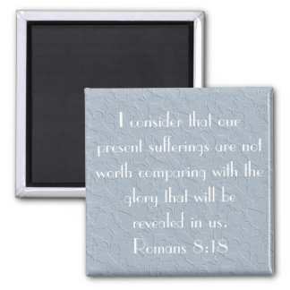 christian butterflies bible verse Romans 8:18 Square Magnet