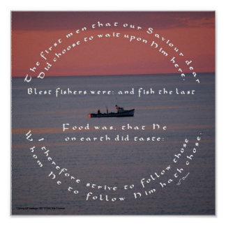 Christian Catholic Fishing Poster Basse Quote