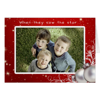 Christian Christmas Big Photo Greeting Card