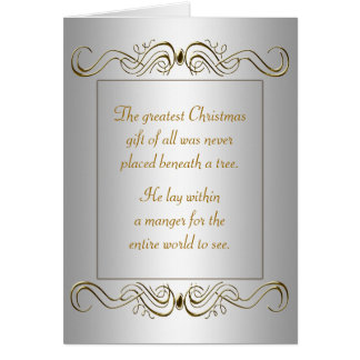 Christian Christmas Holiday Card