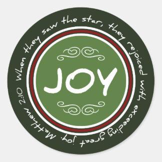 Christian Christmas Joy Bible Verse Stickers