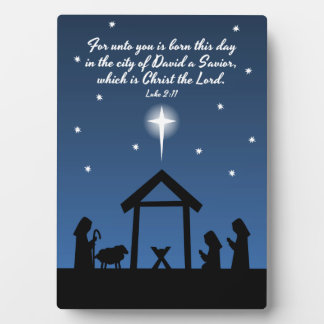 Christian Christmas Nativity Scene Design / Verse Plaque