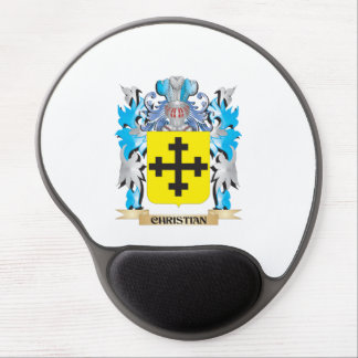 Christian- Coat of Arms - Family Crest Gel Mouse Mats