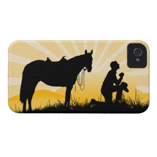 Christian Cowboy iPhone Case