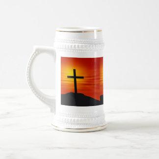 CHRISTIAN CROSS BEER STEIN