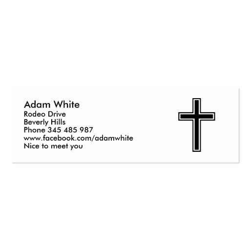 christian cross doublesided mini business cards pack of