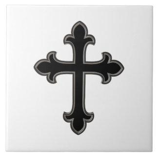 Christian cross ceramic tile