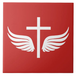 Christian cross ceramic tile